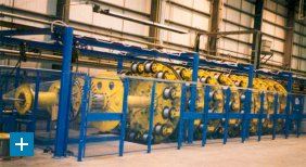 Armouring line for umbilicals